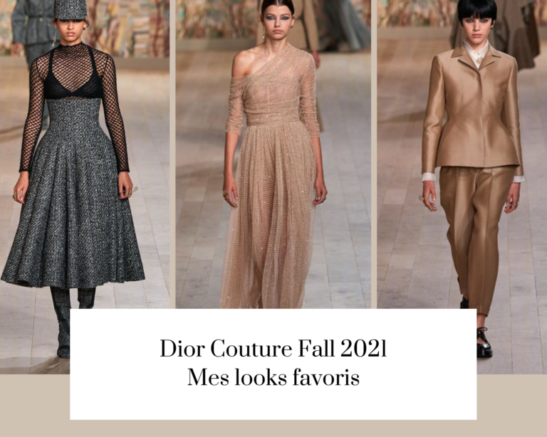 Dior Couture Fall 2021 : mes looks favoris